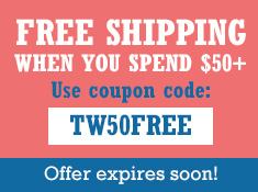 Free Shipping When Spending $50+